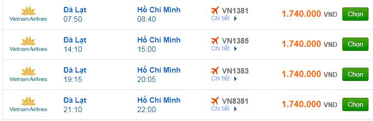 Chi tiết giá vé đi Sài Gòn hãng Vietnam Airlines, Vietjet Air, Jetstar tháng 08