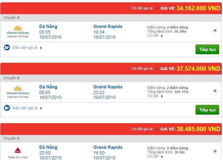 Chi tiết giá vé đi Mỹ tháng 07