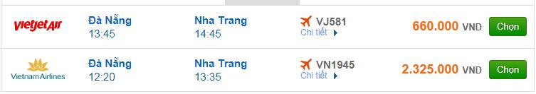 Chi tiết giá vé đi Nha Trang Vietnam Airlines, Vietjet Air, Jetstar tháng 04