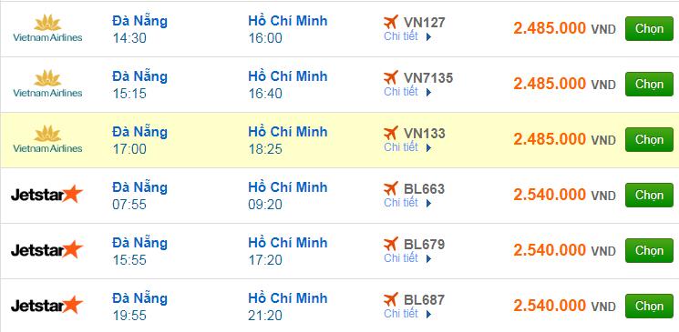 Chi tiết giá vé đi Sài Gòn hãng Vietnam Airlines, Vietjet Air, Jetstar tháng 02