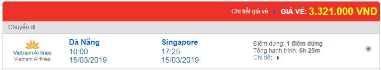 Chi tiết giá vé đi Singapore 3 hãng Vietnam Airlines, Vietjet Air, Jetstar tháng 03