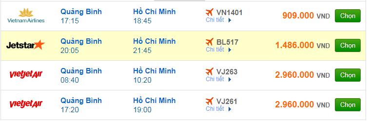 Chi tiết giá vé đi Sài Gòn hãng Vietnam Airlines, Vietjet Air, Jetstar tháng 03