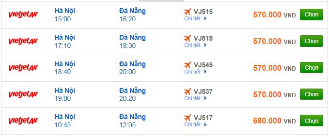 Vé máy bay Vietjet Air đi Đà Nẵng