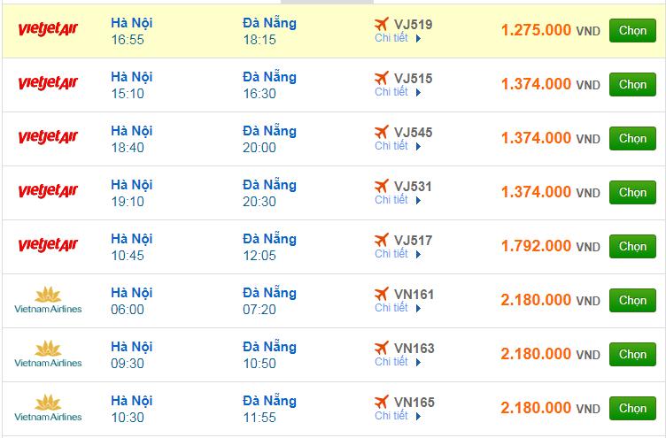 Chi tiết giá vé đi Đà Nẵng hãng Vietnam Airlines, Vietjet Air, Jetstar tháng 07