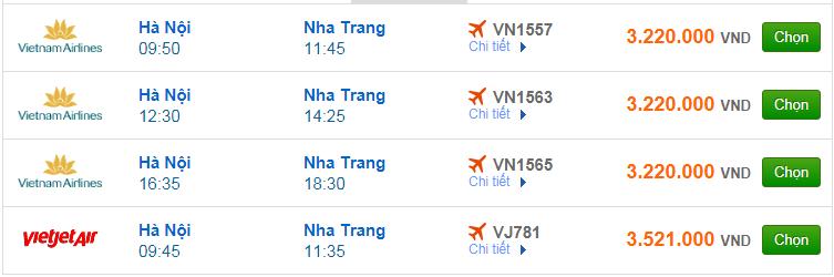 Chi tiết giá vé đi Nha Trang Vietnam Airlines, Vietjet Air, Jetstar tháng 05