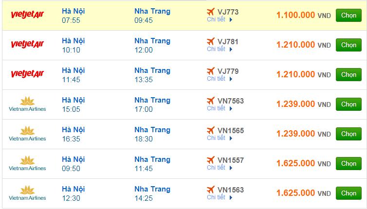 Chi tiết giá vé đi Nha Trang Vietnam Airlines, Vietjet Air, Jetstar tháng 09