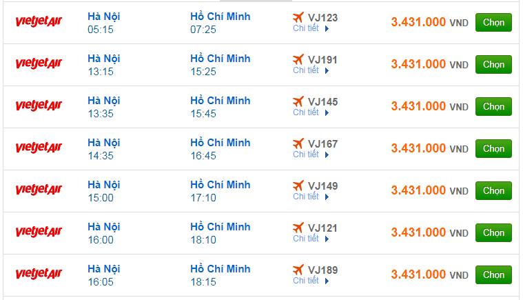 Chi tiết giá vé đi Sài Gòn hãng Vietnam Airlines, Vietjet Air, Jetstar tháng 09