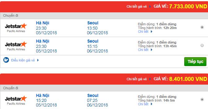 Vé máy bay Jetstar đi Seoul, Hàn Quốc