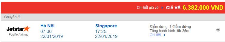 Chi tiết giá vé đi Singapore 3 hãng Vietnam Airlines, Vietjet Air, Jetstar tháng 01
