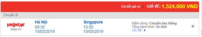 Vé máy bay Vietjet Air Hà Nội đi Singapore