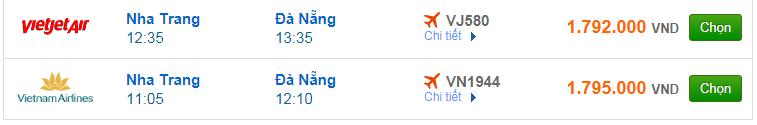 Chi tiết giá vé đi Đà Nẵng hãng Vietnam Airlines, Vietjet Air, Jetstar tháng 12