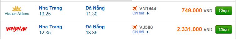 Chi tiết giá vé đi Đà Nẵng hãng Vietnam Airlines, Vietjet Air, Jetstar tháng 03
