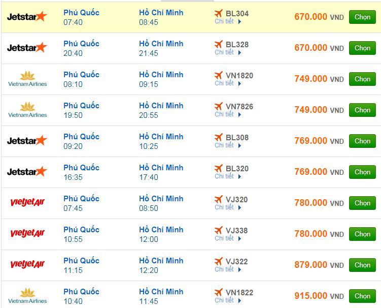 Chi tiết giá vé đi Sài Gòn hãng Vietnam Airlines, Vietjet Air, Jetstar tháng 11