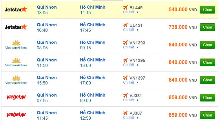 Chi tiết giá vé đi Sài Gòn hãng Vietnam Airlines, Vietjet Air, Jetstar tháng 12