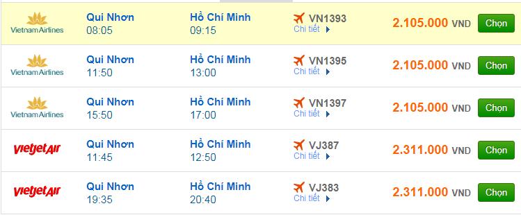 Chi tiết giá vé đi Sài Gòn hãng Vietnam Airlines, Vietjet Air, Jetstar tháng 04