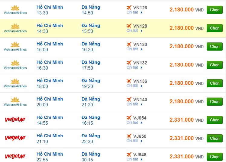 Chi tiết giá vé đi Đà Nẵng hãng Vietnam Airlines, Vietjet Air, Jetstar tháng 06