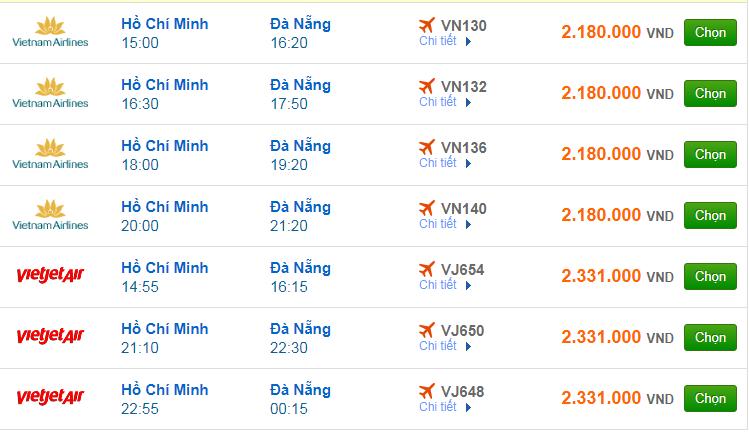 Chi tiết giá vé đi Đà Nẵng hãng Vietnam Airlines, Vietjet Air, Jetstar tháng 08