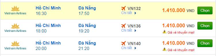 Chi tiết giá vé đi Đà Nẵng hãng Vietnam Airlines, Vietjet Air, Jetstar tháng 11