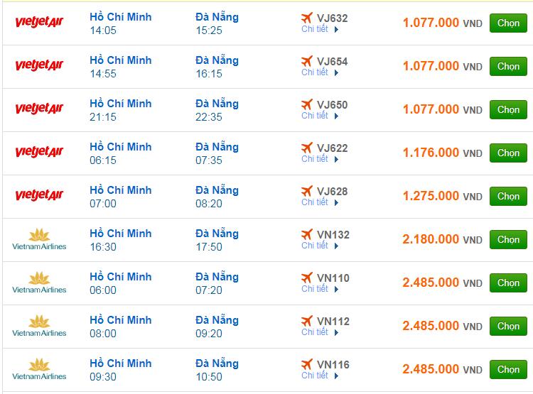 Chi tiết giá vé đi Đà Nẵng hãng Vietnam Airlines, Vietjet Air, Jetstar tháng 02