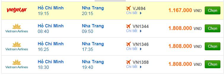 Chi tiết giá vé đi Nha Trang Vietnam Airlines, Vietjet Air, Jetstar tháng 06