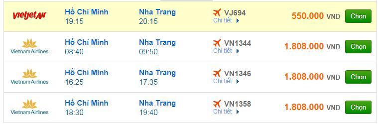 Chi tiết giá vé đi Nha Trang Vietnam Airlines, Vietjet Air, Jetstar tháng 10