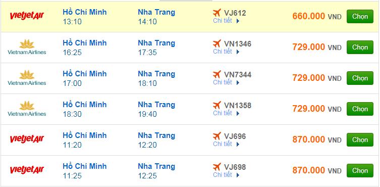 Chi tiết giá vé đi Nha Trang Vietnam Airlines, Vietjet Air, Jetstar tháng 02