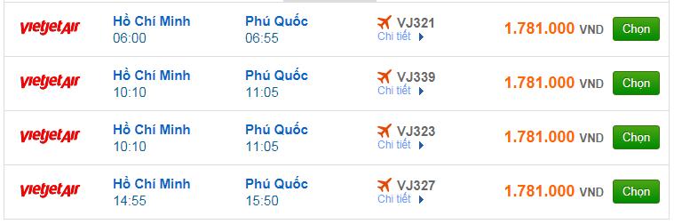 Chi tiết giá vé đi Phú Quốc hãng Vietnam Airlines, Vietjet Air, Jetstar tháng 09