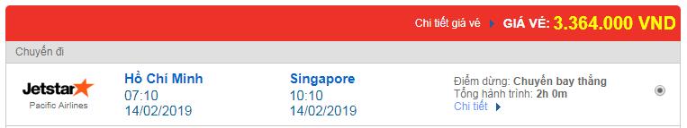 Chi tiết giá vé đi Singapore 3 hãng Vietnam Airlines, Vietjet Air, Jetstar tháng 02