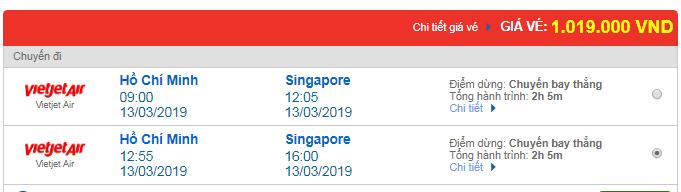 Vé máy bay Vietjet Air đi Singapore
