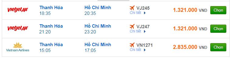 Chi tiết giá vé đi Sài Gòn hãng Vietnam Airlines, Vietjet Air, Jetstar tháng 07