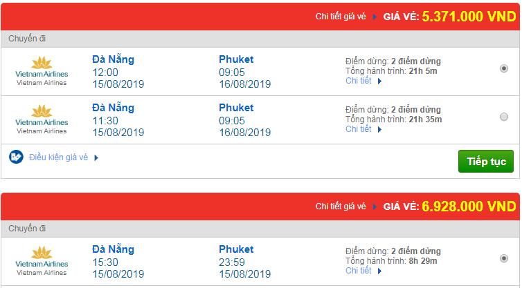 Chi tiết giá vé đi Thái Lan 3 Vietnam Airlines, Vietjet Air, Jetstar tháng 08