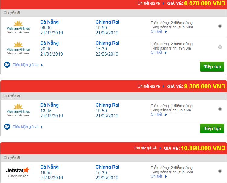 Chi tiết giá vé đi Thái Lan 3 Vietnam Airlines, Vietjet Air, Jetstar tháng 03