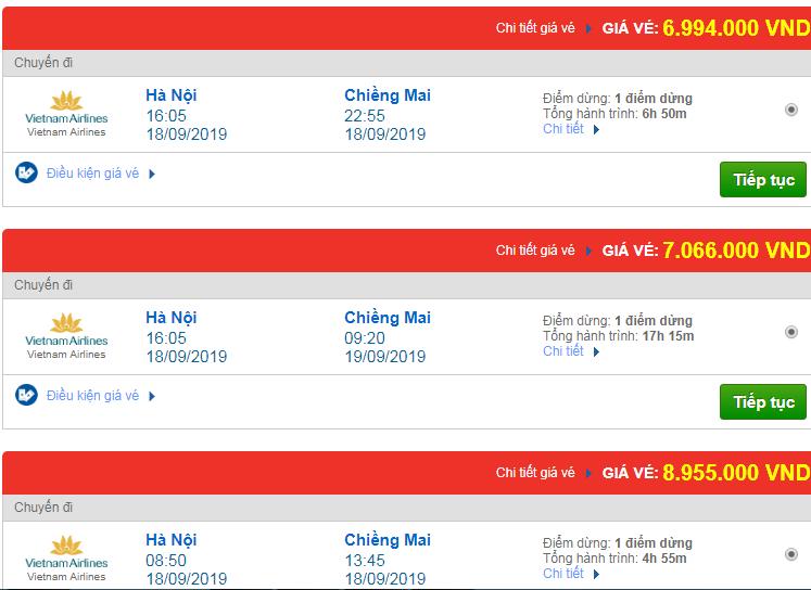 Chi tiết giá vé đi Thái Lan 3 Vietnam Airlines, Vietjet Air, Jetstar tháng 09