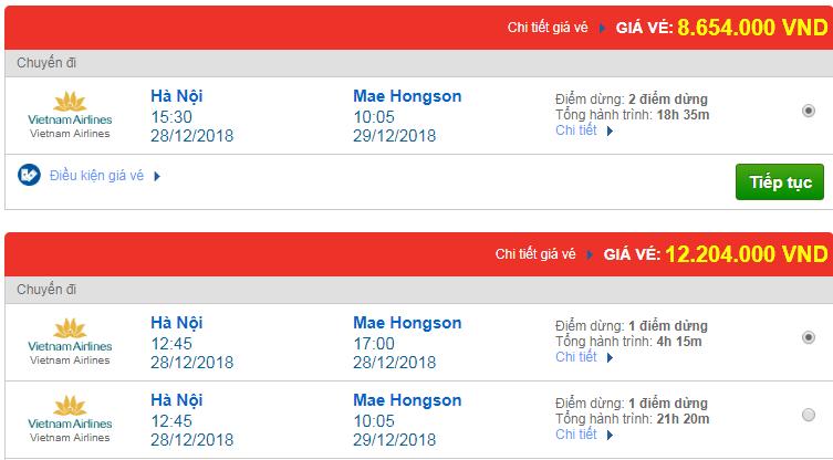 Chi tiết giá vé đi Thái Lan 3 Vietnam Airlines, Vietjet Air, Jetstar tháng 12