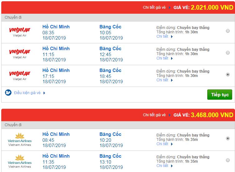 Chi tiết giá vé đi Thái Lan 3 Vietnam Airlines, Vietjet Air, Jetstar tháng 07