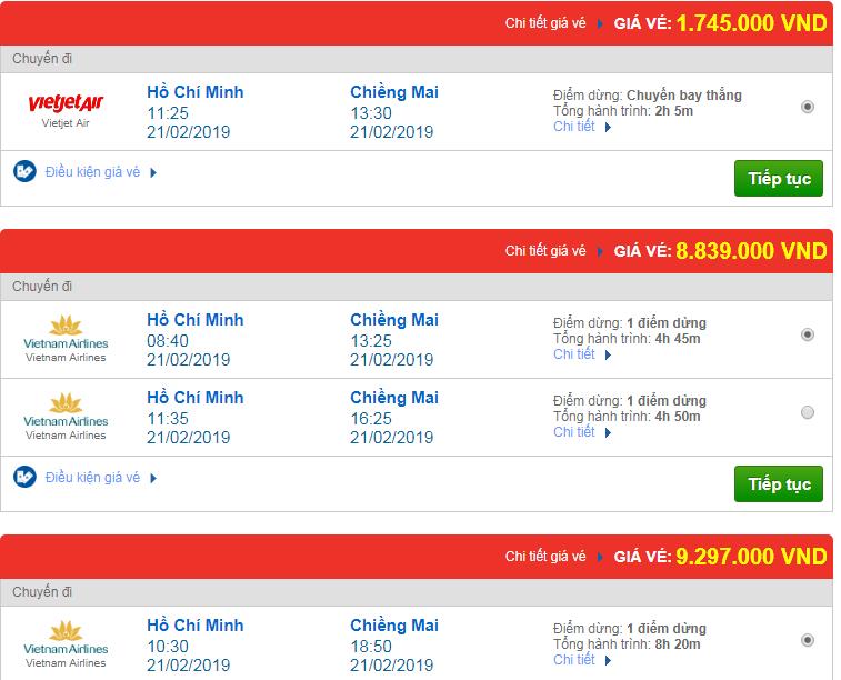 Chi tiết giá vé đi Thái Lan 3 Vietnam Airlines, Vietjet Air, Jetstar tháng 02