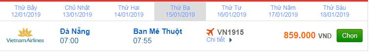 giá vé máy bay đà nẵng đi Buôn Ma Thuột