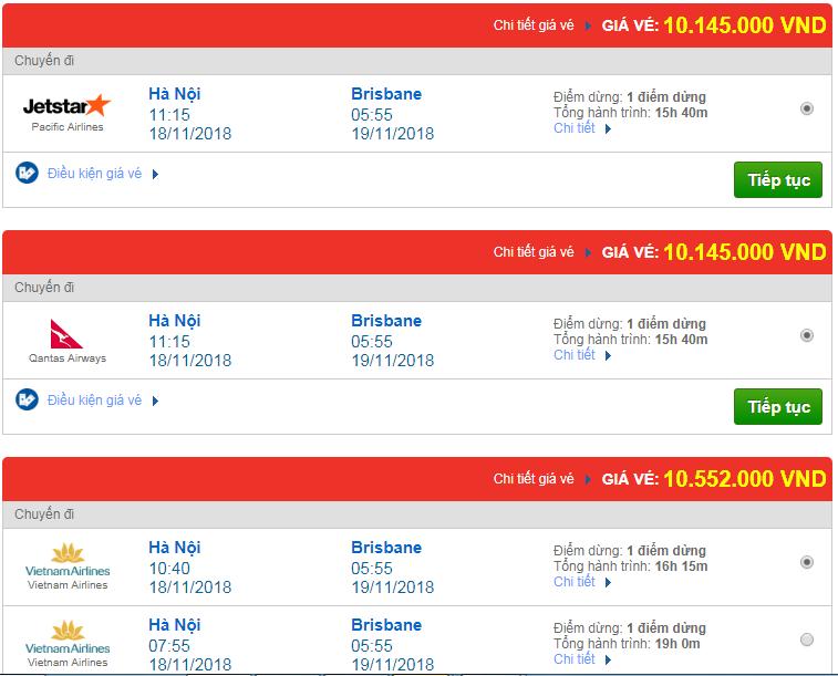 Giá vé máy bay đi Úc bao nhiêu?