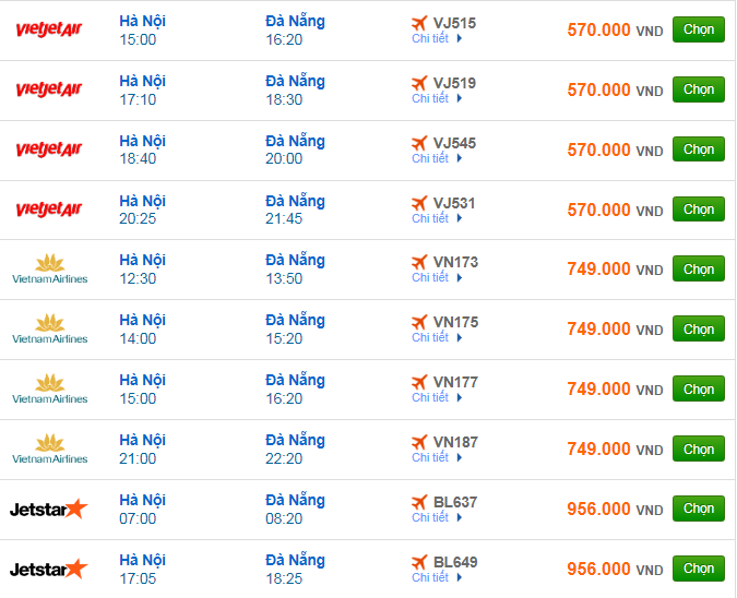 Giá vé máy bay đi Đà Nẵng bao nhiêu?