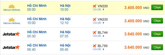 Giá vé máy bay đi Hà Nội bao nhiêu?