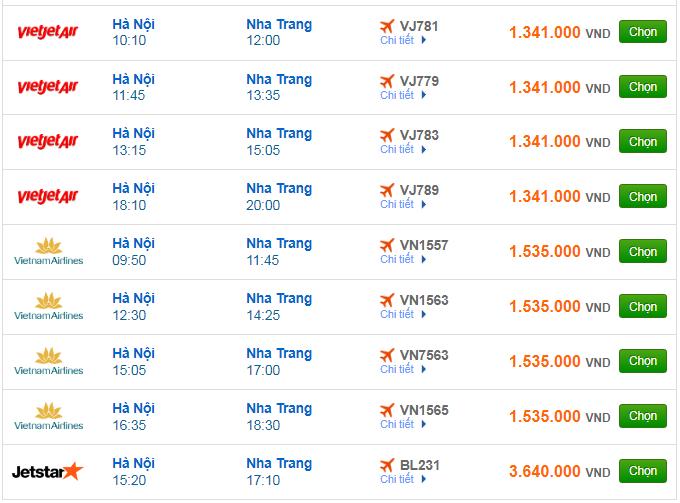 Giá vé máy bay đi Nha Trang bao nhiêu?