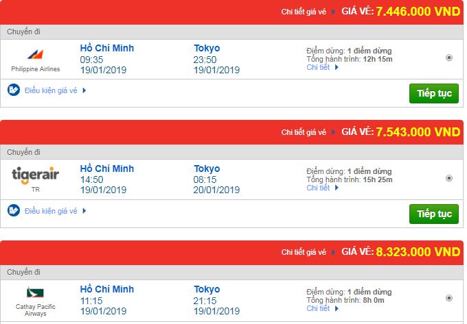 Giá vé máy bay đi Tokyo, Nhật Bản bao nhiêu?