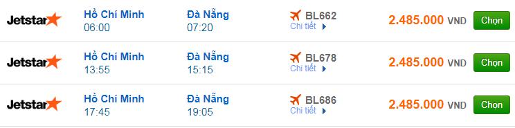 Vé máy bay đi Đà Nẵng của hãng hàng không Jetstar