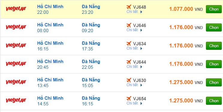 Vé máy bay đi Đà Nẵng của hãng hàng không Vietjet Air
